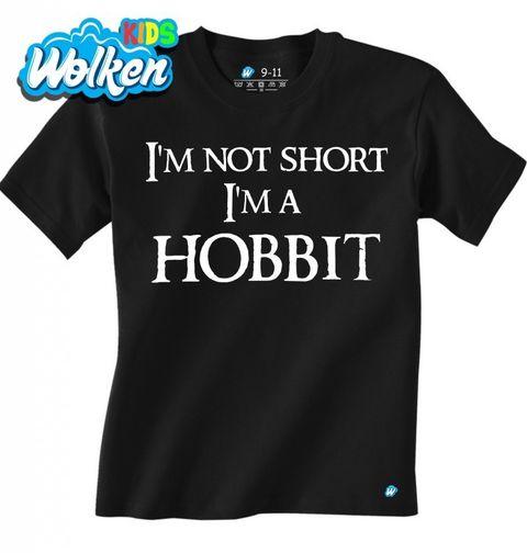 """Obrázek produktu Dětské tričko Dětské tričko Já nejsem malý, já jsem hobit """"I am not short I am Hobbit"""""""