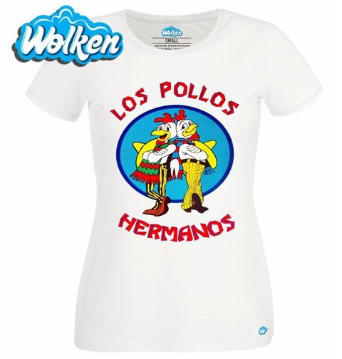 """Obrázek produktu Dámské tričko Breaking Bad """"Los Pollos Hermanos"""""""
