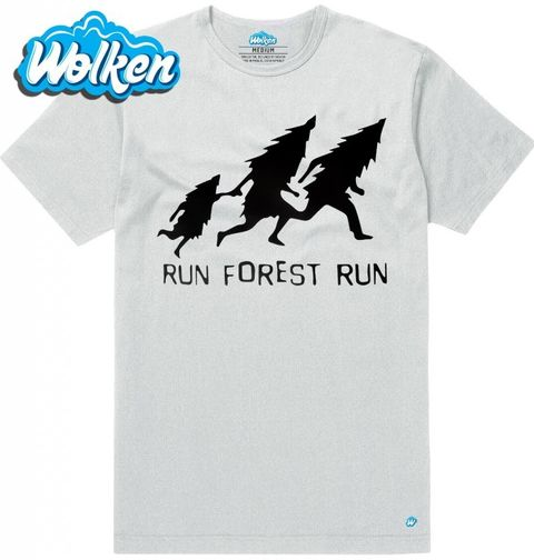 "Obrázek produktu Pánské tričko Run Forrest Run ""Běžící les"""