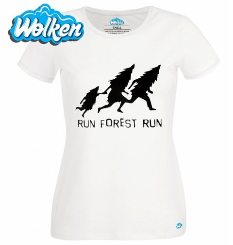 "Obrázek produktu Dámské tričko Run Forrest Run ""Běžící les"""