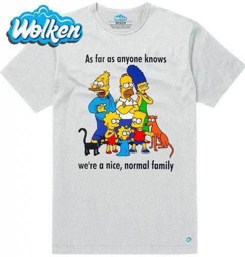 """Obrázek produktu Pánské tričko The Simpsons """"Taková normální rodinka"""" Simpsonovi"""