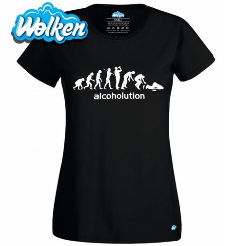 Obrázek produktu Dámské tričko Evoluce Alkoholika Alcoholution
