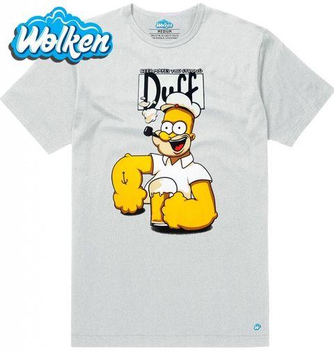 """Obrázek produktu Pánské tričko Homer Simpson """"Duff Power"""" The Simpsons"""