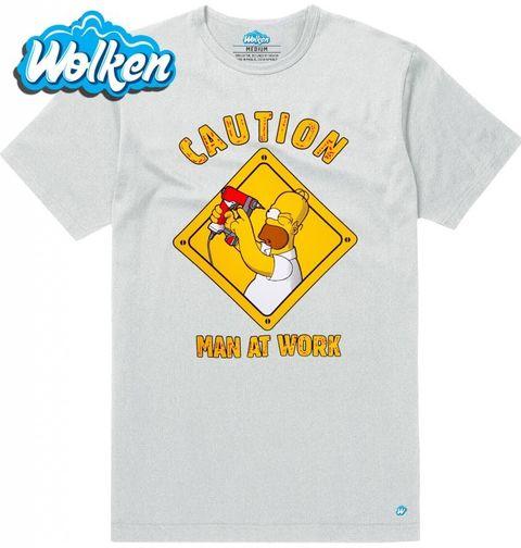 Obrázek produktu Pánské tričko The Simpsons Man at work Simpsonovi